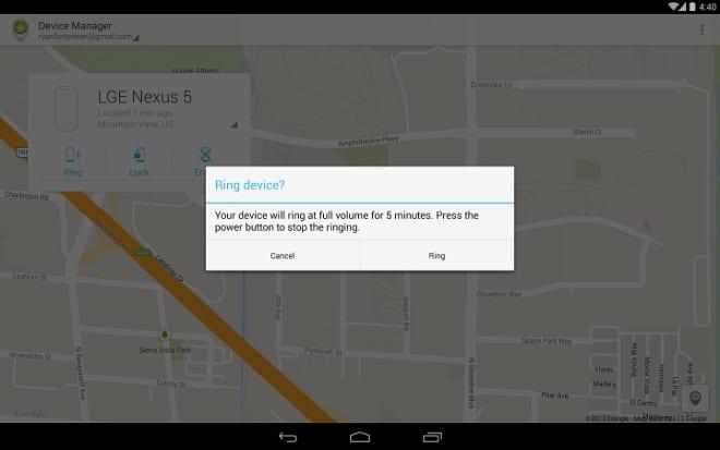 Android Devide Manager permite la activación de una alarma.