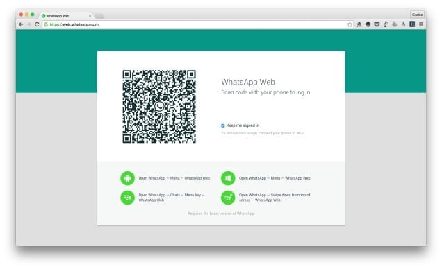 WhatsApp disponible en versión Web.