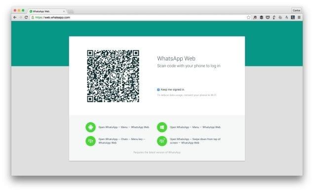WhatsApp disponible en versión Web.