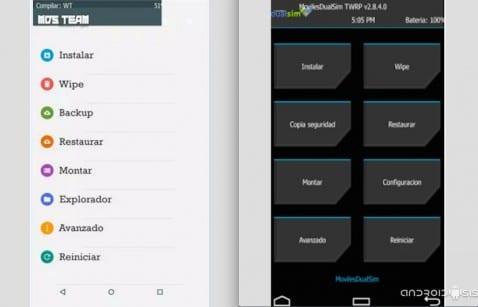 Cómo actualizar el TWRP Recovery en el Lenovo K3 Note a su versión 2.8.6 estilo Material Design
