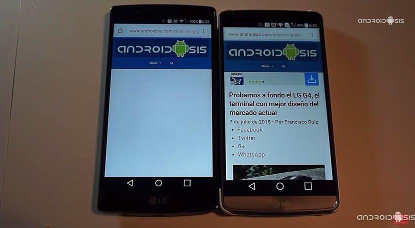 Test de velocidad Androidsis: Hoy LG G3 VS LG G4
