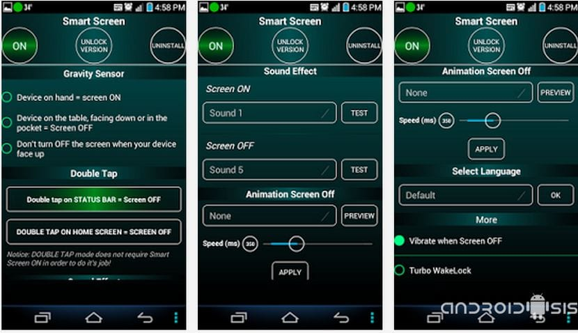 Aplicaciones increíbles para Android: Hoy Smart Screen On Off
