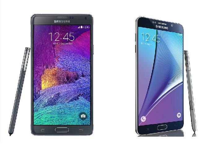 Galaxy Note 4 VS Galaxy Note 5
