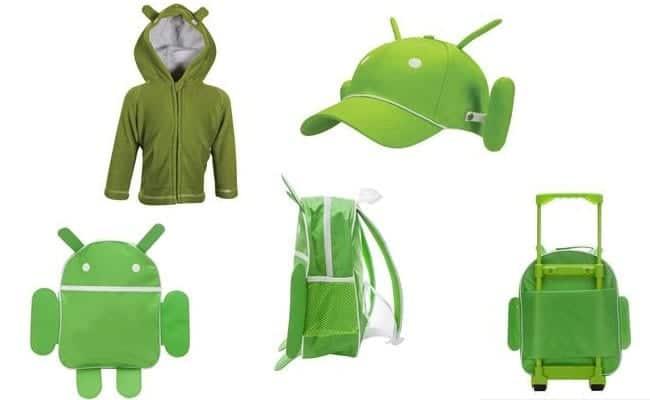 Merchandising oficial de Android.