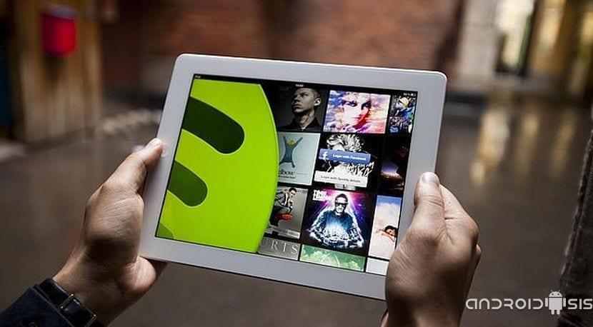 Spotify Tablets habilitado para móviles Android