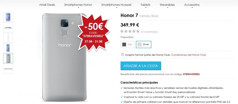 comprar Honor 7 barato