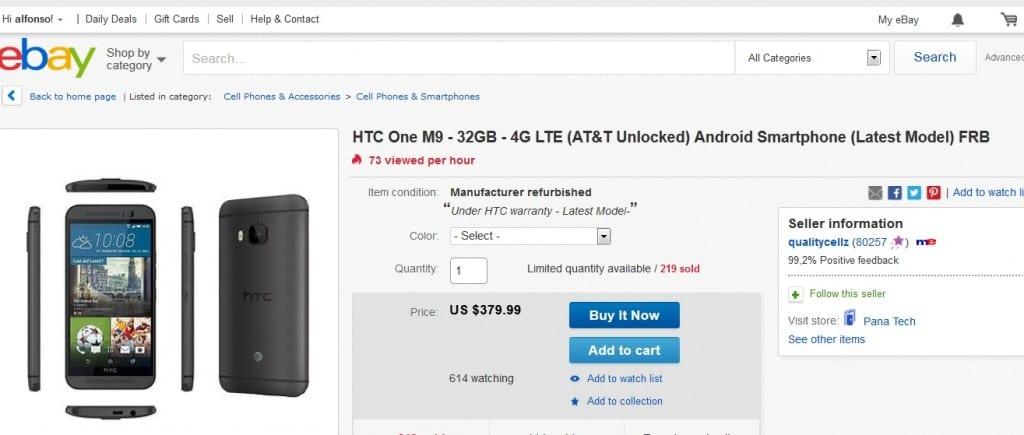 comprar un HTC One M9 barato