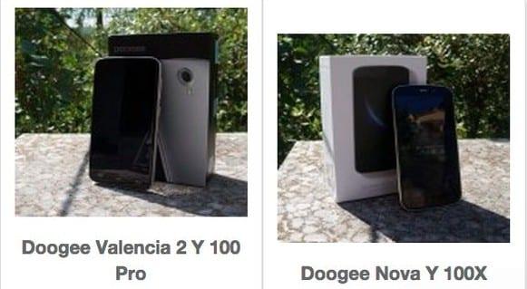 Comparativa Doogee Valencia 2 Y 100 Pro VS Doogee Nova Y 100X y test de velocidad