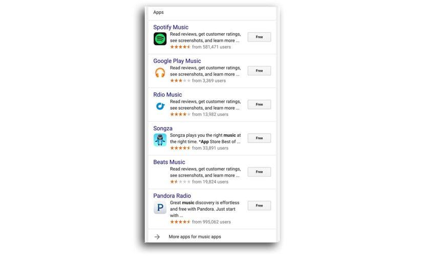 iOS búsqueda