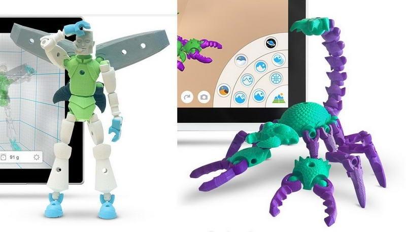 Resultado final de algunos proyectos con la app Tinkerplay.