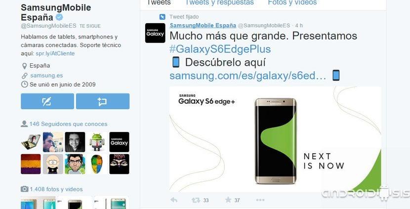 Twitter Samsung Mobile España