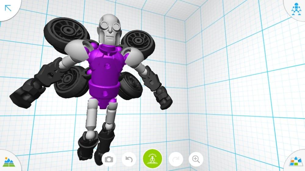 Tinkerplay te ofrece una gran vista en 3D de tu diseño.