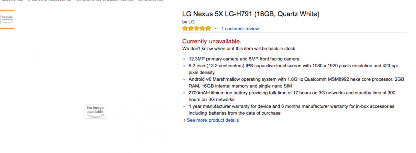 nexus 5x amazon