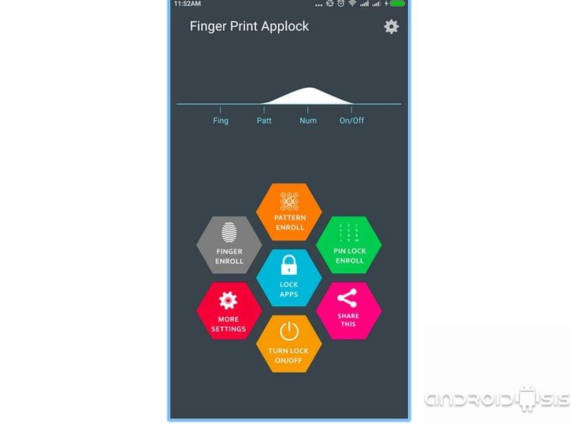 Ajustes Finger Print Applock Pro