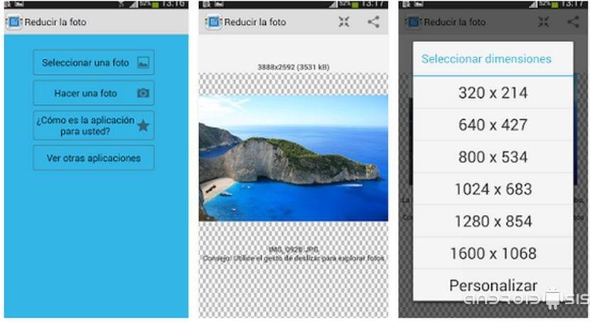 Cambiar la resolución de imágenes en Android