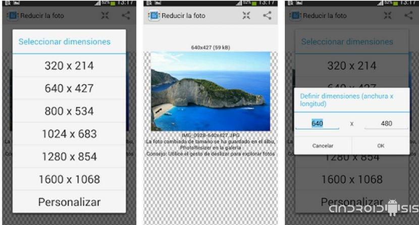 Cómo cambiar la resolución de imágenes desde Android de una manera muy sencilla