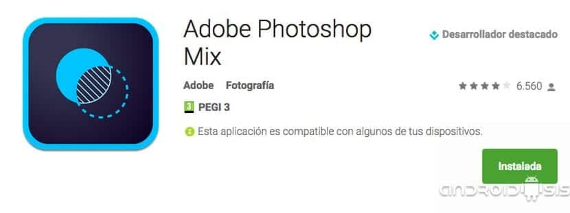 [APK] Cómo instalar Photoshop Mix en una Tablet Android