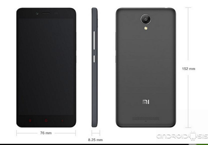 Xiaomi Redmi Note 2 medidas
