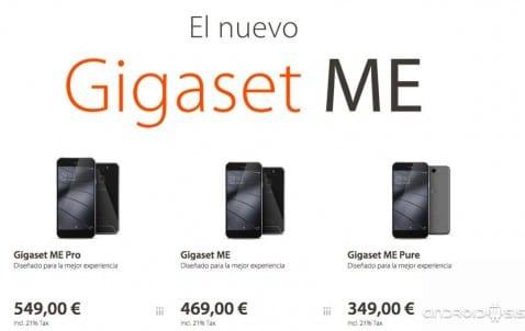 GIGASET ME, especificaciones y precios de la nueva linea de Smartphones de la compañía Alemana