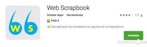 Web Scrapbook, la mejor app para realizar capturas de pantalla de páginas webs