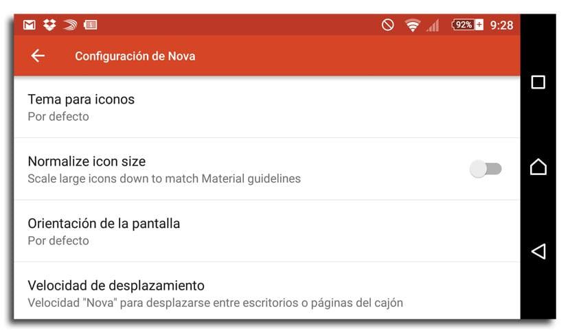 Nova Launcher normalización