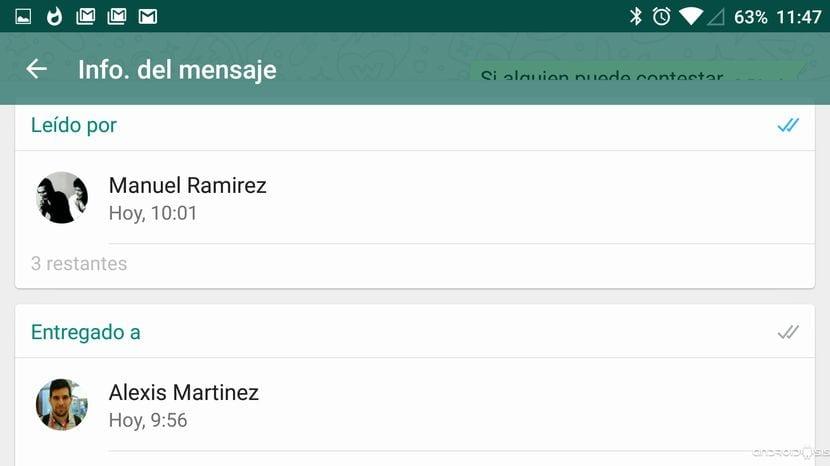 [Truco WhatsApp] Cómo saber quien ha leído los mensajes en un grupo de WhatsApp