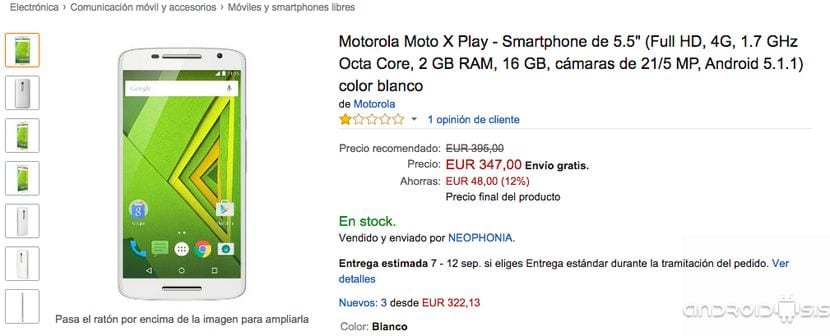 Comprar Moto X Play Blanco