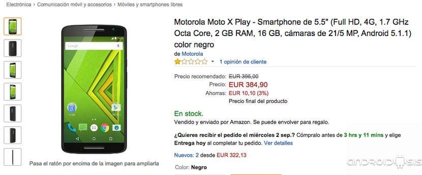 Comprar Moto X Play Negro