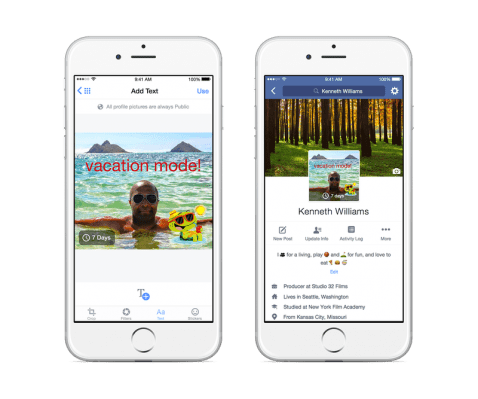 facebook video como foto de perfil