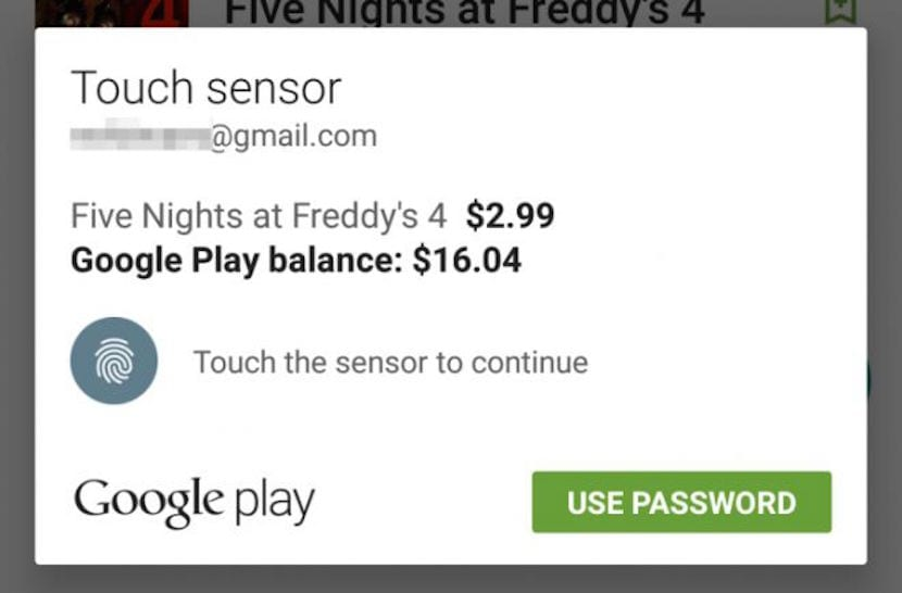 Sensor huellas Google Play