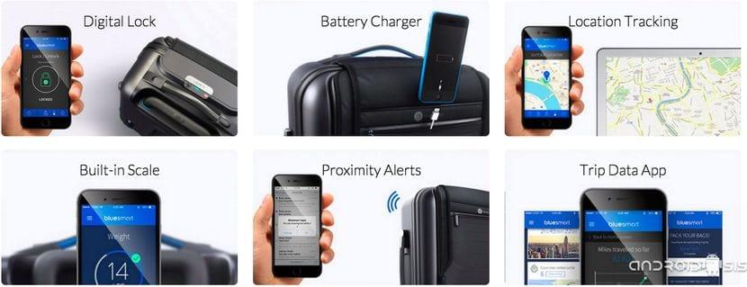 BlueSmart maleta inteligente todas sus funcionalidades