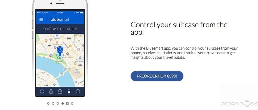 BlueSmart maleta inteligente seguimiento