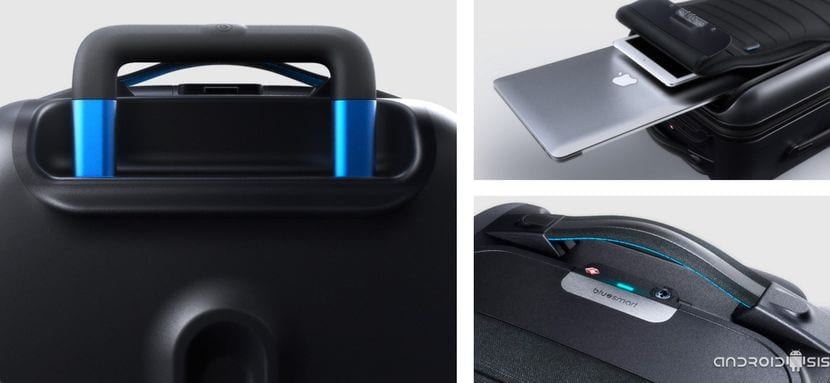 BlueSmart maleta inteligente bolsillos