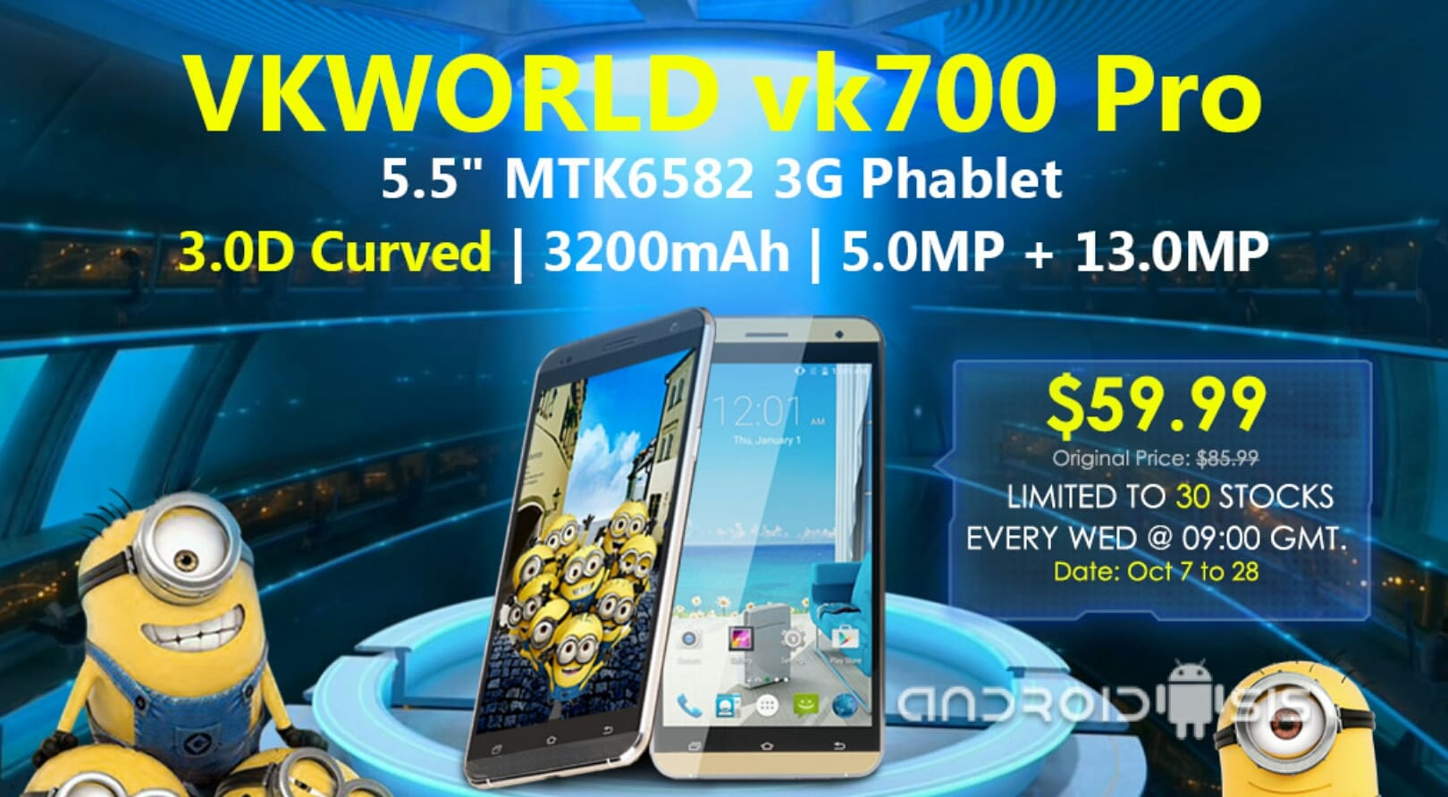 Cómo conseguir un Phablet VKWORLD vk700 Pro por tan solo 52 euros