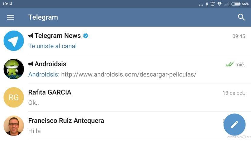 Cómo crear un nuevo canal en Telegram, y unirse al de @Androidsis