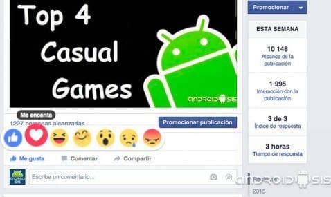 Cómo disfrutar del nuevo botón reacciones de Facebook desde Android