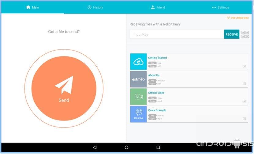 compartir cualquier clase de archivos con cualquier terminal Android