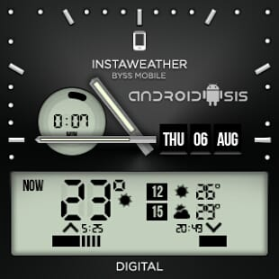 El mejor skin de reloj para Android Wear te lo ofrece InstaWeather for Android Wear