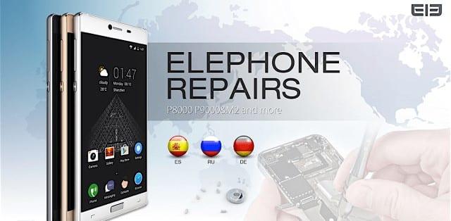 elephone reparaciones