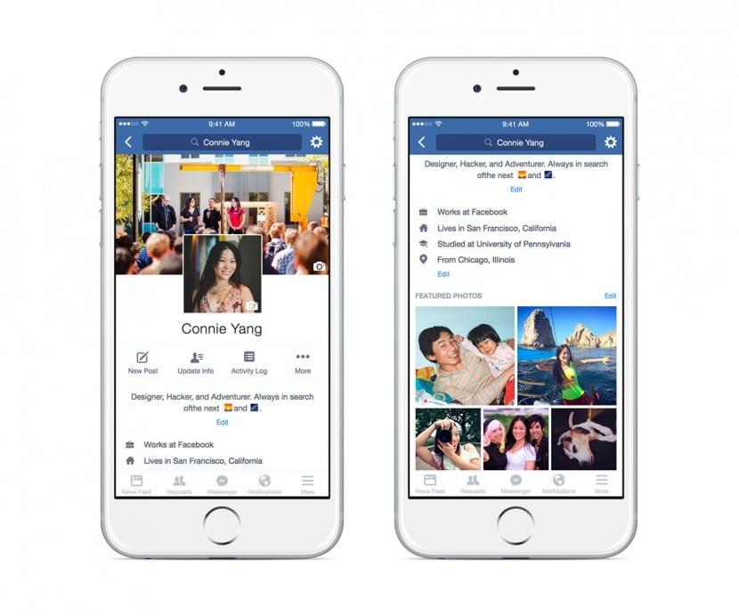 facebook nuevos perfiles
