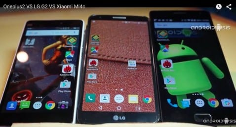 Test LG G2 VS Oneplus VS Mi4c: Trio de ases enfrentados