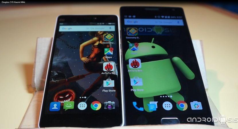 Test de velocidad Androidsis: Oneplus 2 VS Xiaomi Mi4c