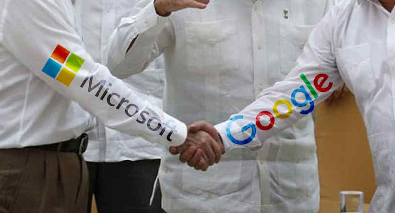 Guerra de patentes Microsoft Google