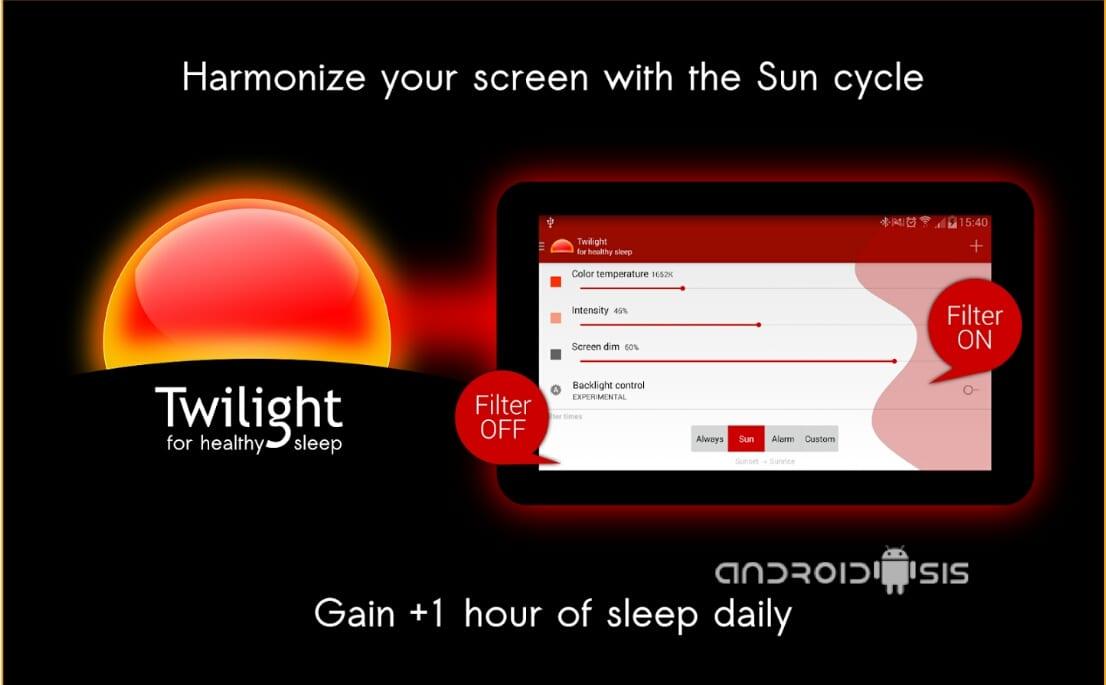¿Problemas para coinciliar el sueño?, la culpa puede ser de la pantalla de tu Android, Twilight te ayuda a protegerte de la exposición a la luz azul