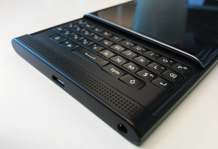 Teclado de BlackBerry Priv