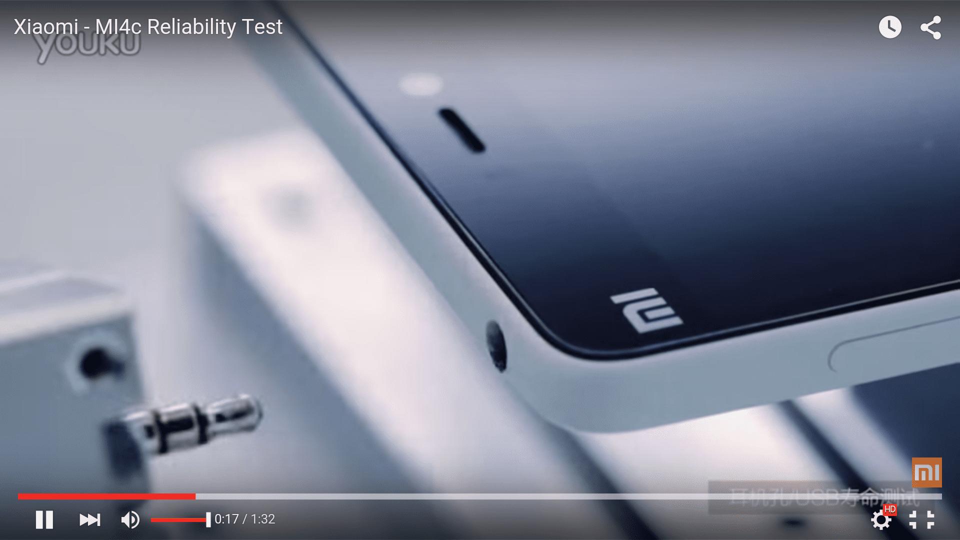 [Vídeo] Test de resistencia Xiaomi Mi4c