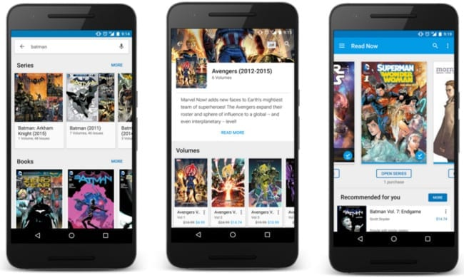 google play books comics