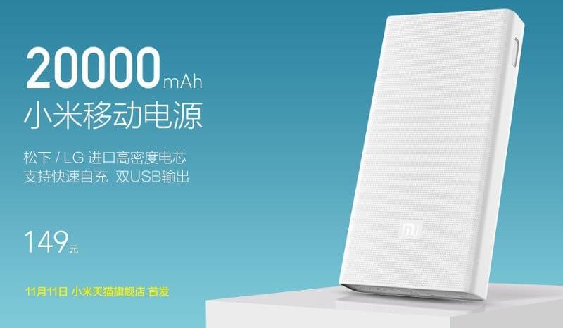 Xiaomi 20.000 mAh