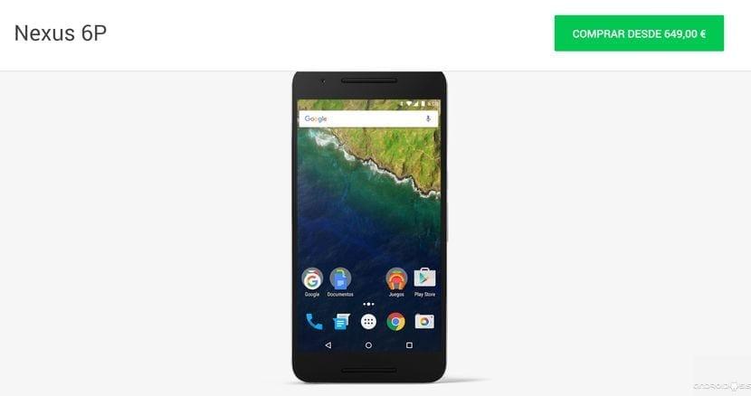 Ya puedes comprar el Nexus 6p en Google Play y en Amazon España