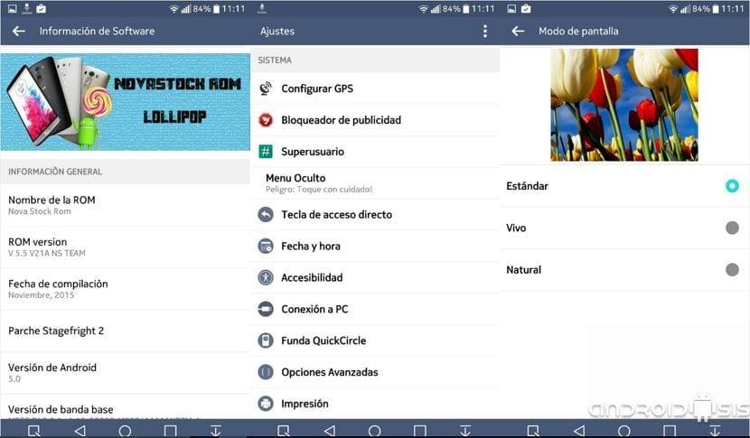 La mejor Rom para el LG G3: NovaStock rendimiento y batería espectacular
